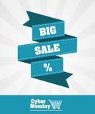 Cybermåndag design stock illustrationer