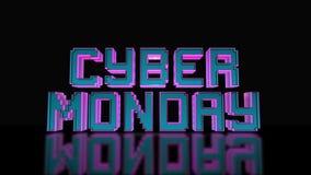 Cybermåndag mega Sale 3D text som kretsar animering