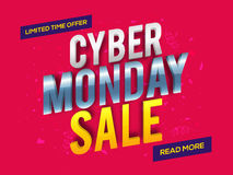 Cybermåndag Sale affisch, baner eller reklamblad Royaltyfri Foto