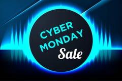 Cybermåndag Sale bakgrund för åtskilligt befordran Cybermåndag baner och etikett för Website L Vektor Illustrationer