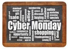Cybermåndag shopping Fotografering för Bildbyråer