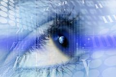 Cybernetic eye Royalty Free Stock Image