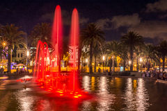 Cybernetic fountains in Salou, Catalonia Stock Photography