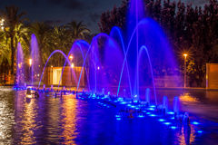 Cybernetic fountains in Salou, Catalonia Royalty Free Stock Photo