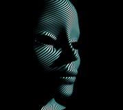 Cybernetic man Stock Image
