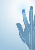 The cybernetics hand. Vector illustration Stock Photography