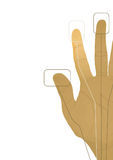 The cybernetics hand. Vector illustration Royalty Free Stock Image