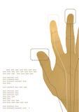 The cybernetics hand. Vector illustration Stock Image