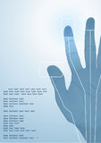 The cybernetics hand. Vector illustration Stock Images