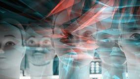 Cybernetisch nieuwe technologie neuraal netwerk vector illustratie