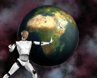 cybernetyczna android inteligencja Zdjęcia Stock