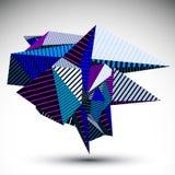 Cybernetyczny kontrasta element budujący od geometrycznych postaci w Obrazy Royalty Free