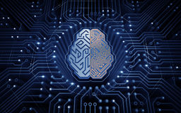 Cybernetyczny mózg Obraz Royalty Free