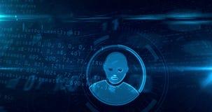 Cyberprivacy in Internet-lijn stock illustratie