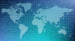 Cyberprzestrzeń, digitalizacja, sieć, zaawansowany technicznie/- wektorowa ilustracja ilustracji