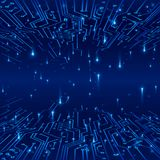 cyberprzestrzeń Pojęcie futurystyczny tło Ślada na obwodu i dane wymianie w postaci sygnałów również zwrócić corel ilustracji wek Obrazy Royalty Free