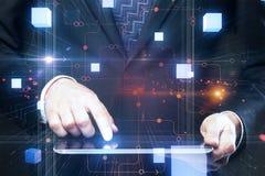 Cyberprzestrzeni ilustracja Zdjęcia Stock