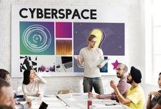 Cyberprzestrzeni technologii sieci pojęcie Obrazy Stock