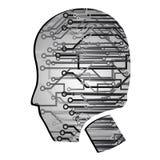 cyberpunk κεφάλι Στοκ Εικόνες
