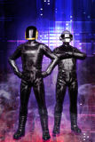 Cyberpunk guys Daft punk. 3D render illustration Vector Illustration