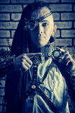 Cyberpunk man Stock Photo