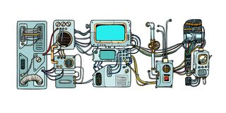 Free Cyberpunk Robots Mechanisms And Machines. Details Of The Spacecr Stock Photo - 131050330