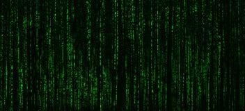 CYBERPUNKhacker-Anschluss abstractio der horizontalen klaren Matrix Neo Lizenzfreie Stockfotografie