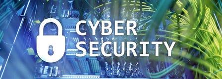 Cybersäkerhet, dataskydd, informationsavskildhet Internet- och teknologibegrepp royaltyfri illustrationer
