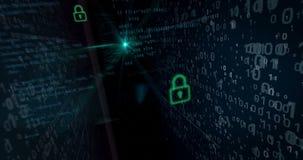 Cybersäkerhetsöverträdelsebegrepp lager videofilmer