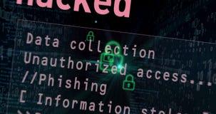 Cybersäkerhetsöverträdelsebegrepp 4 lager videofilmer