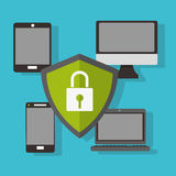 Cybersäkerhetsdesign Arkivbild