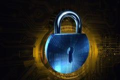 Cybersäkerhetslås Stock Illustrationer