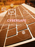 CYBERSAFE, ψηφιακές επιχείρηση και έννοια τεχνολογίας Στοκ Εικόνες