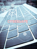 CYBERSAFE, Digital Business and Technology concept Stock Photography