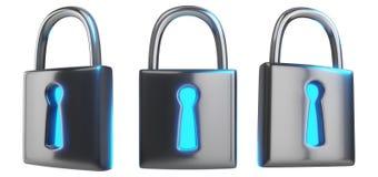 Cybersecurity技术一套的概念3d翻译我 库存图片