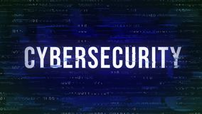Cybersecurity - ζωντανεψοντα δυσλειτουργία τσιτάτο με το δυαδικό στο υπόβαθρο