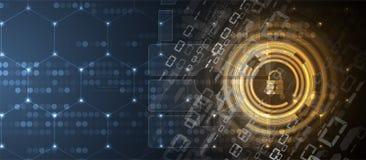 Cybersecurity και πληροφορίες ή προστασία δικτύων μελλοντική τεχνολογία ελεύθερη απεικόνιση δικαιώματος