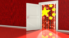 Cybersecurity backdoor concept Royalty Free Stock Photos