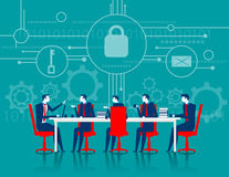 Cybersecurity. Business meeting security Royalty Free Stock Images