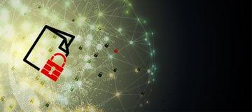 Cybersecurity e proteção da informação ou da rede Tecnologia futura Foto de Stock Royalty Free