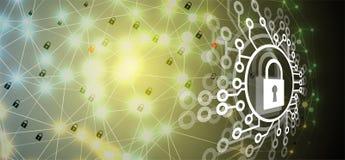 Cybersecurity e proteção da informação ou da rede Tecnologia futura Imagem de Stock Royalty Free