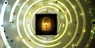 Cybersecurity e proteção da informação ou da rede Tecnologia futura Imagens de Stock Royalty Free