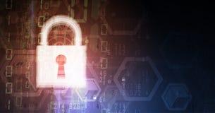 Cybersecurity e protezione della rete o di informazioni Tecnologia futura illustrazione di stock