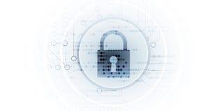 Cybersecurity e protezione della rete o di informazioni Tecnologia futura royalty illustrazione gratis