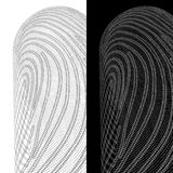 Cybersecurity. Fingerprint on a background of zeros and ones.  Royalty Free Stock Photo