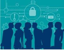 CyberSecurity Geschäftstreffensicherheit Stockbilder