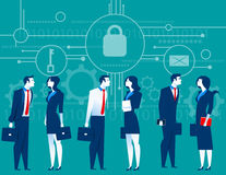 CyberSecurity Geschäftstreffensicherheit Konzeptgeschäft illus Lizenzfreie Stockfotos