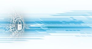 Cybersecurity i ochrona informaci lub sieci przyszłościowa technika Zdjęcia Stock