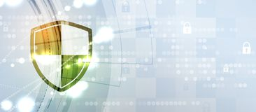 Cybersecurity and information or network protection. Future tech. Cybersecurity and information or network protection. Future cyber technology web services for Stock Photo