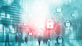 Cybersecurity, Information privacy, data protection, virus and spyware defense. Cybersecurity, Information privacy, data protection, virus and spyware defense stock images